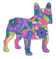 French bulldog painted silhouette vector image vector image