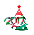 Christmas tree New Year banner elements vector image vector image