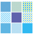 Seamless Fabric Checked Pattern vector image vector image