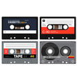 Plastic audio cassette tapes vector image