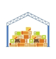Warehouse Building Metal Roof Construction With vector image