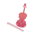 icon violin vector image