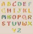 Alphabet Flowers Design A-Z vector image