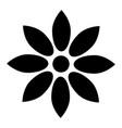 flower black color icon vector image
