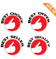 Circle Best tag - - EPS10 vector image