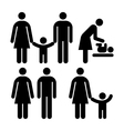 People family sign vector image