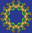 pattern with roses not seamless vector image