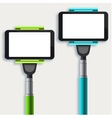 set of modern monopod for self vector image vector image