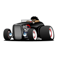 Classic Street Rod Hi Boy Roadster vector image