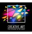 simple white square frame within colorful vector image