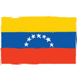 abstract venezuela flag or banner vector image
