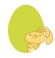 adorable bunny rabbit cartoon character vector image