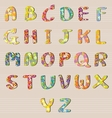 Alphabet Flowers Design A-Z vector image