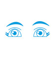 beautiful eyes cartoon vector image
