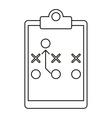board tactical diagram american football outline vector image