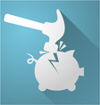 break piggy bank icon vector image