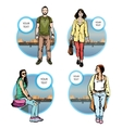 citizen hipster character man vector image