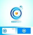 Corporate circle heart love logo vector image