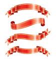 elegance ribbon banner vector image