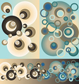 Sett of patterns of circles vector image