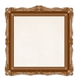 Vintage Picture Frame Isolated on White Background vector image