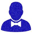 waiter icon grunge watermark vector image