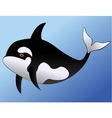 whale cartoon vector image