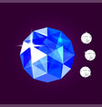 realistic sapphire jewel gem vector image