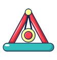 attraction pendulum icon cartoon style vector image