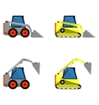 Small loaders set vector image