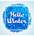 Hello winter abstract background design with vector image