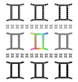Zodiac Sign Gemini Set vector image