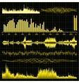 Sound waves set Music background EPS 8 vector image vector image