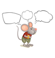 A rat with empty callouts vector image