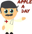 Apple A Day vector image