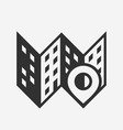 city place map icon with pin vector image