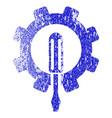 Engineering grunge textured icon vector image