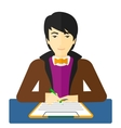 Man signing contract vector image