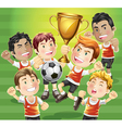 childrens soccer champions vector image vector image