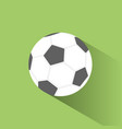 soccer ball icon with shadow on green background vector image