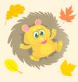 cute cartoon hedgehog character vector image