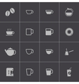 black coffe icons set vector image