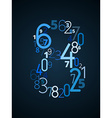 Number 8 font from numbers vector image