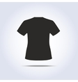 T-shirt symbol in gray colors vector image