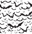 halloween seamless pattern on white vector image vector image