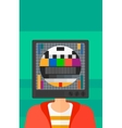 Man with TV head vector image vector image