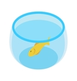 Aquarium with goldfish isometric 3d icon vector image