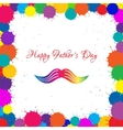 Happy fathers day and mustache ink blots vector image