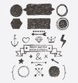 Rough Sketch Design Elements vector image