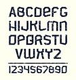 Sans serif font in retro stile vector image